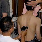 赤外線による皮膚温度測定